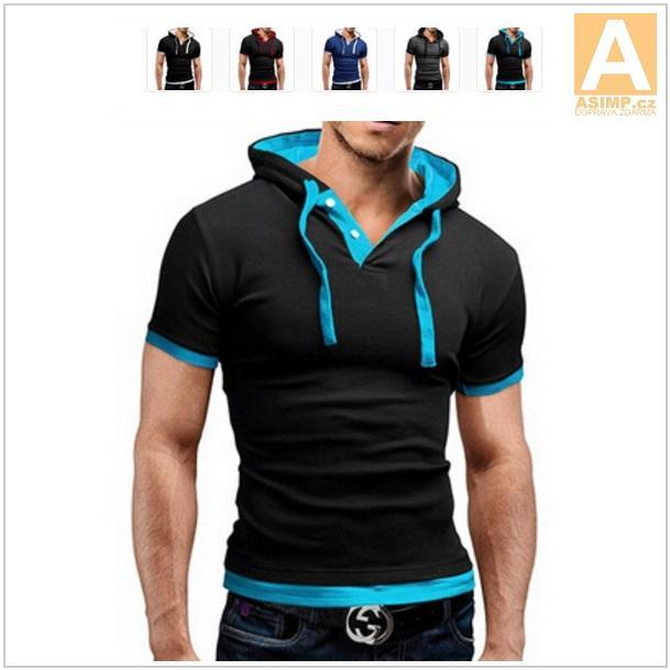 Pánské tričko s kapucí / dnk-13-00694