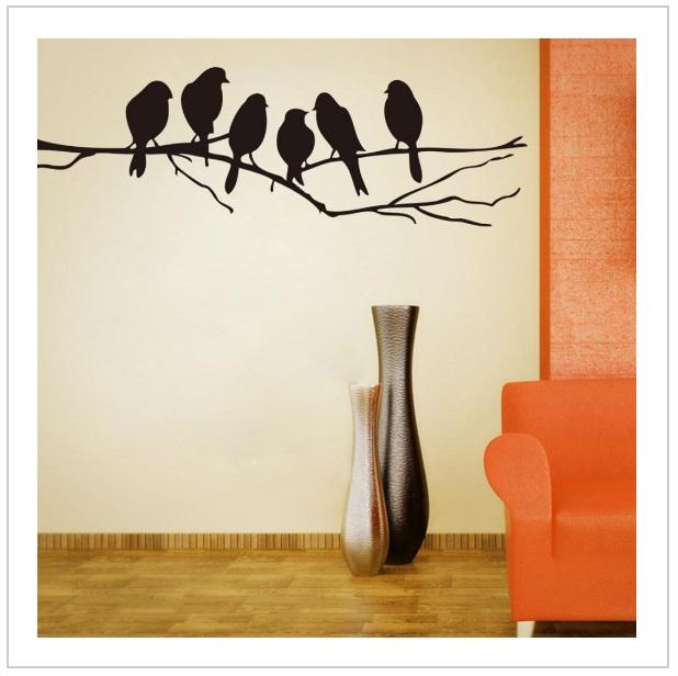 Dekorativní samolepka na zeď - Ptáci / tnk-13-01481