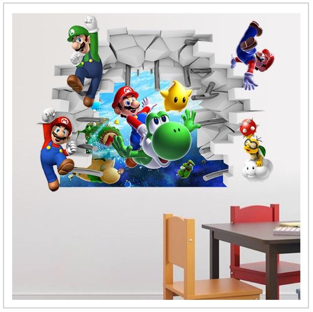 Dekorativní samolepka na zeď - Super Mario / tnk-13-01487