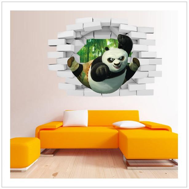 Dekorativní samolepka - Kung Fu Panda / tnk-13-01727a