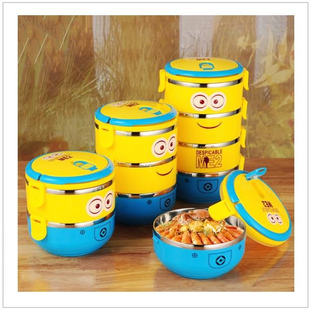 Přepravka na jídlo - Mimoni (1 vrstva) / tnk-13-01976a