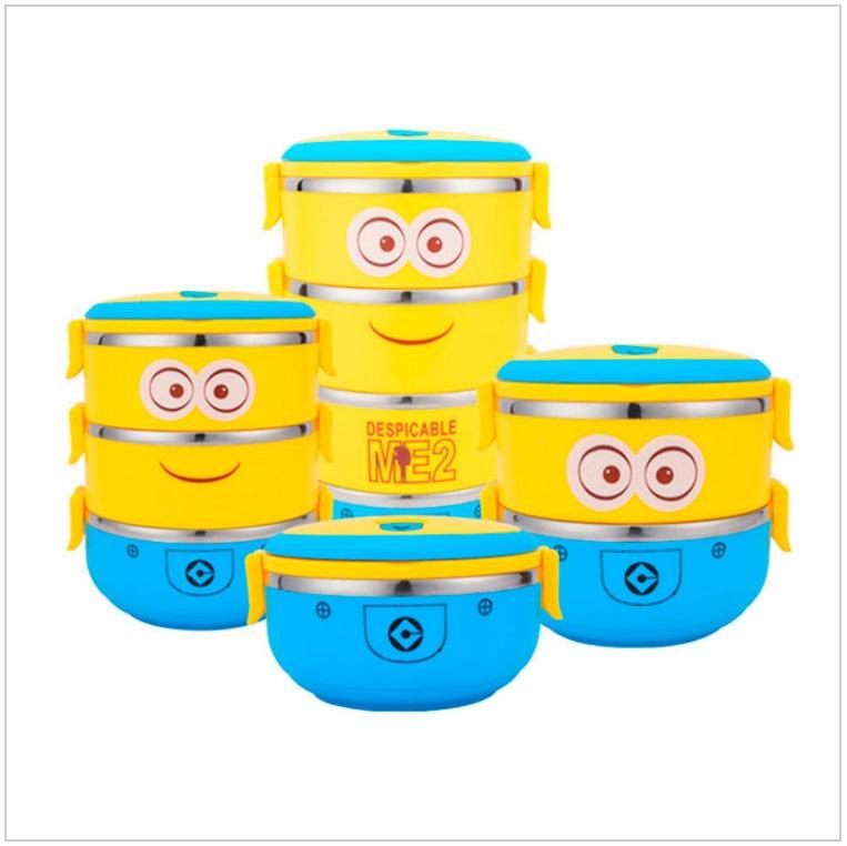 Přepravka na jídlo - Mimoni (3 vrstvy) / tnk-13-01976c