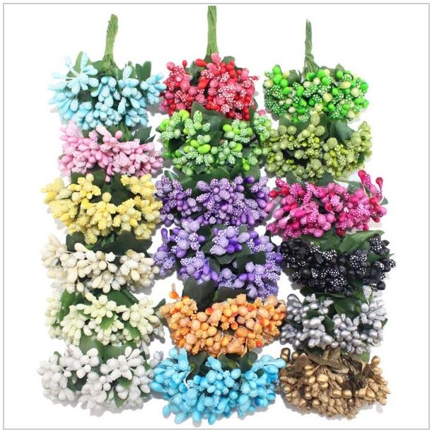 Dekorativní umělé květiny (12 ks) / tnk-13-02001