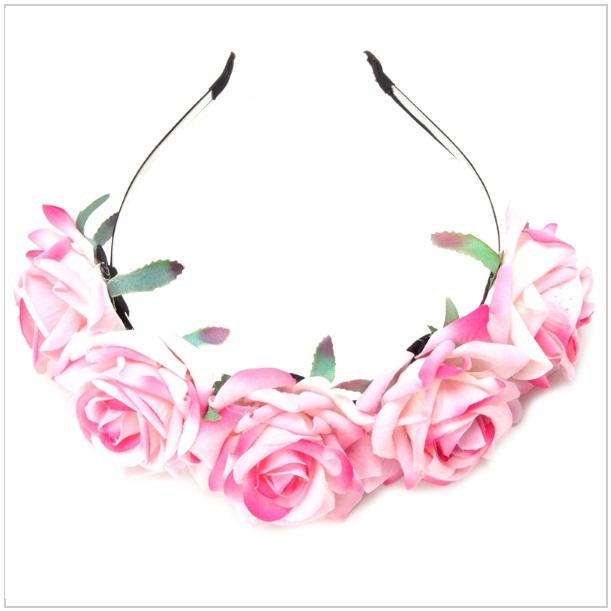 Květinová čelenka - růže / tnk-13-02004b