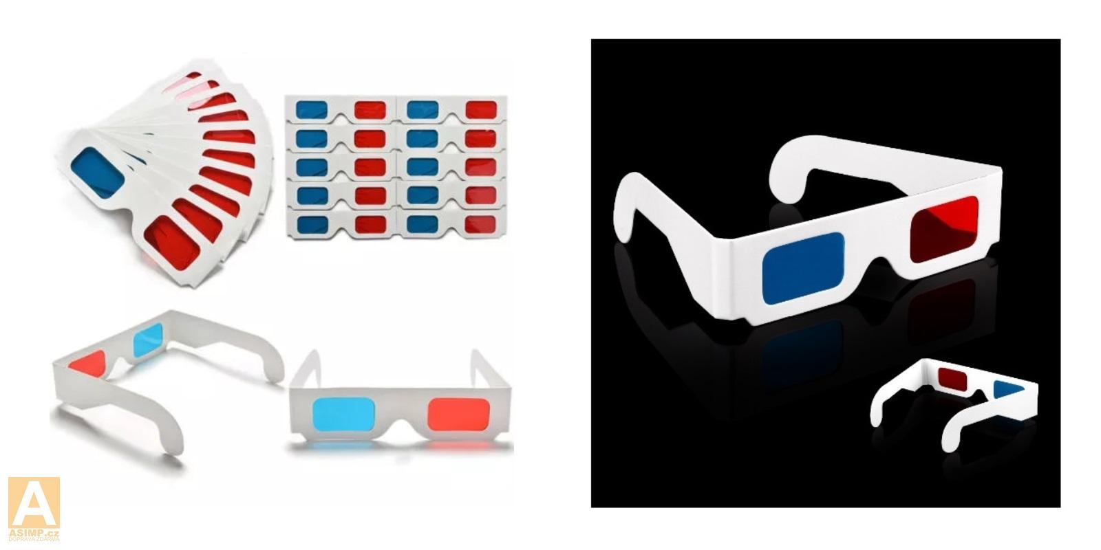 Papírové 3D brýle (10 ks) / A-000487