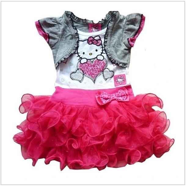 Dětské šaty - Hello Kitty / dnk-13-00996