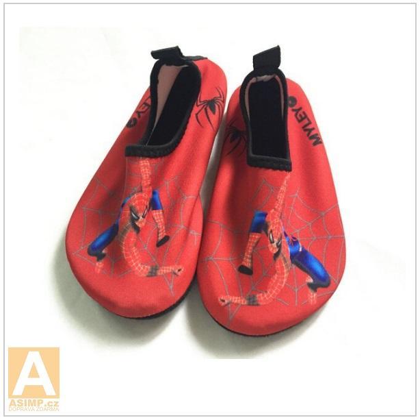 Dětské koupací boty - Spiderman / tnk-13-02105b