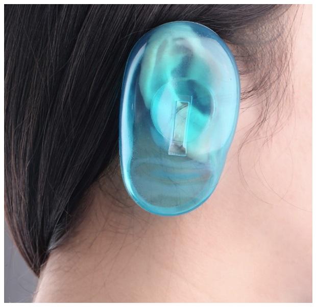 Silikonová ochrana na uši při barvení vlasů (2 ks) / dnk-13-01213
