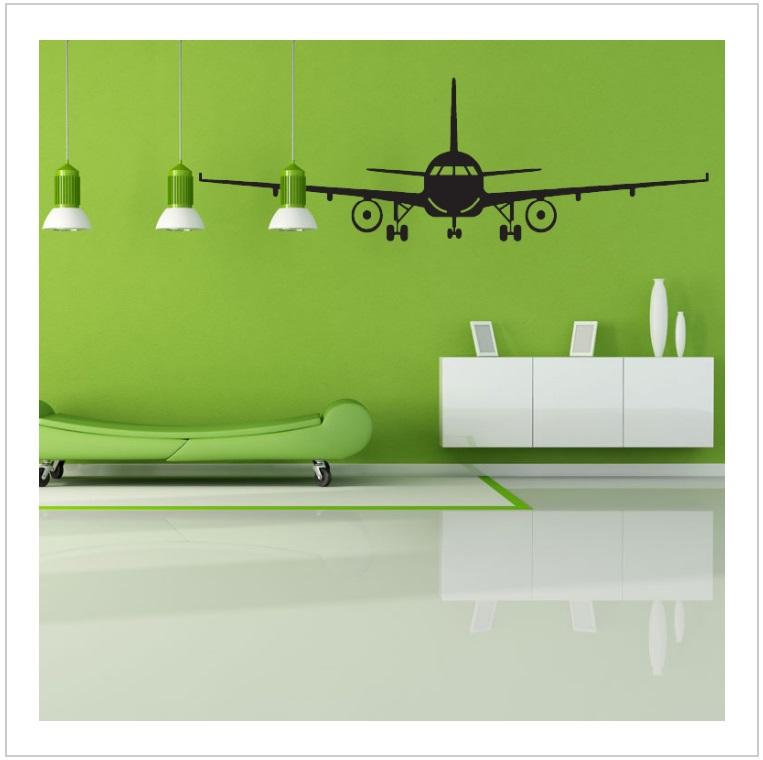 Samolepka na zeď - Letadlo / tnk-13-02166