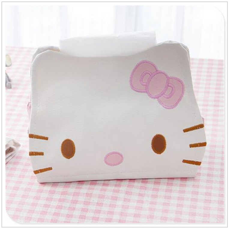 Kožené pouzdro na vlhčené ubrousky - Hello Kitty / dnk-13-01236