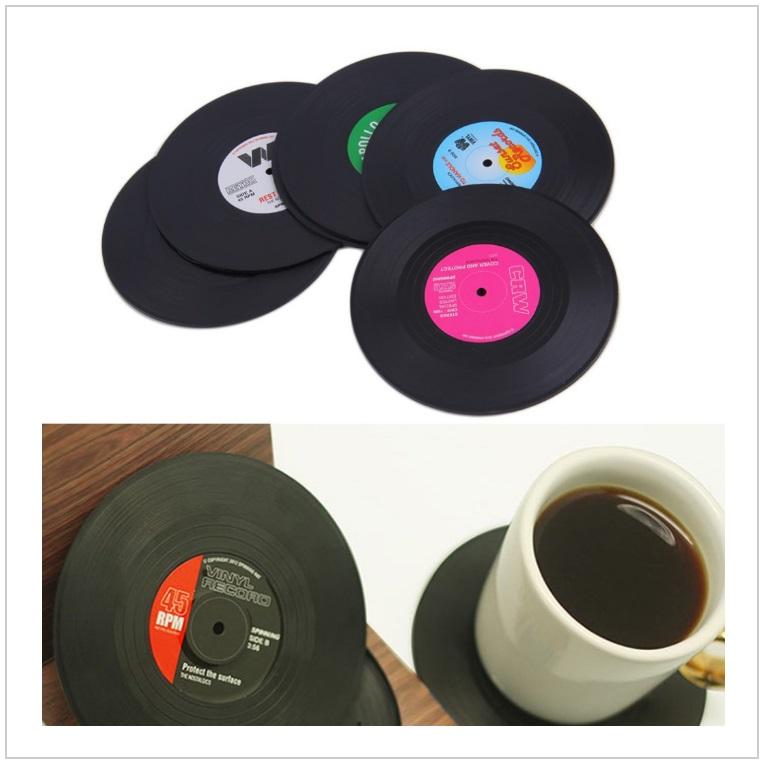 Prostírání - gramofonové desky (6 ks) / tnk-13-02185
