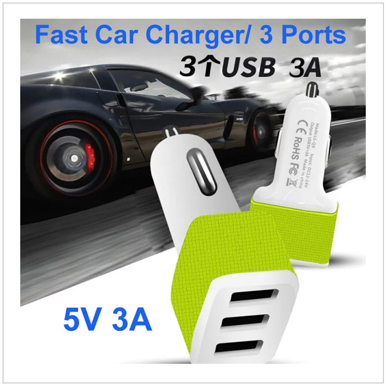 3 USB autonabíječka / tnk-13-02207