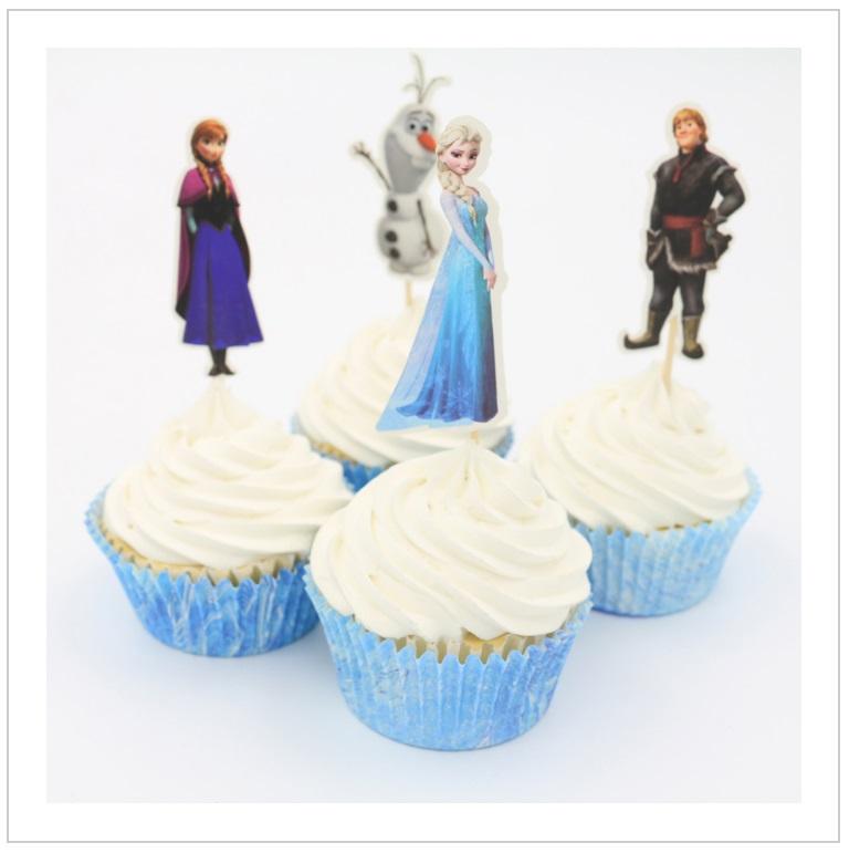 Dekorace na dorty - Ledové Království (24 ks) / dnk-13-01242
