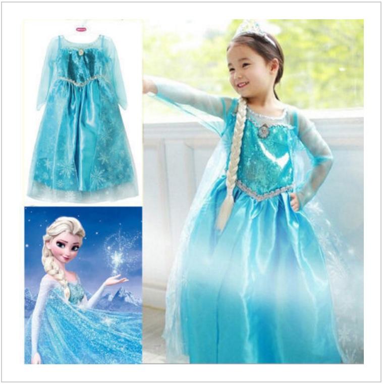 Dětské šaty - Ledové Království / dnk-13-01260
