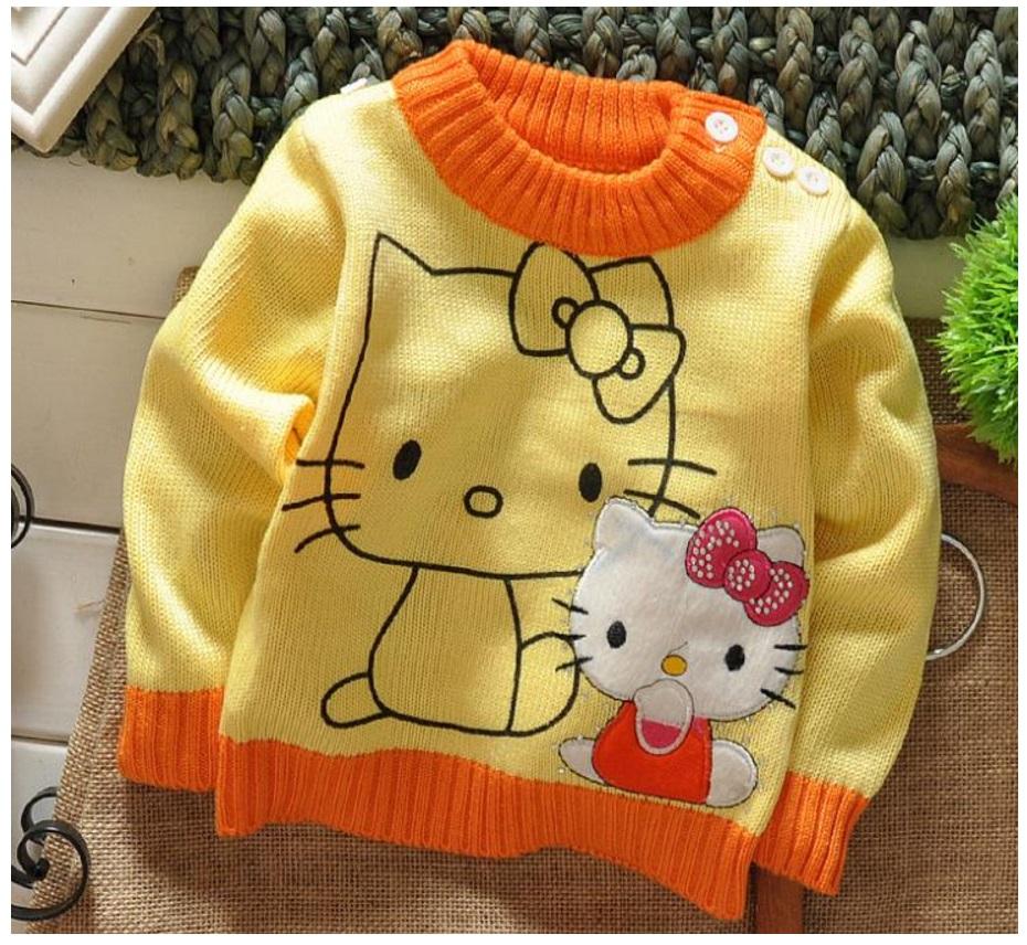 Dětský svetřík - Hello Kitty / dnk-13-01281