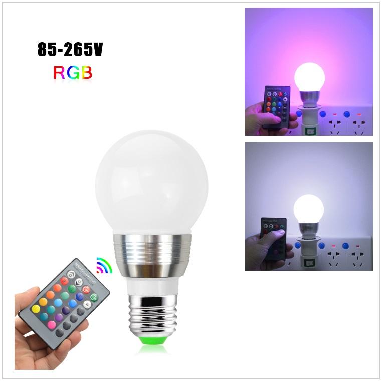Dekorativní žárovka s dálkovým ovládáním měnící 16 barev / tnk-13-02290