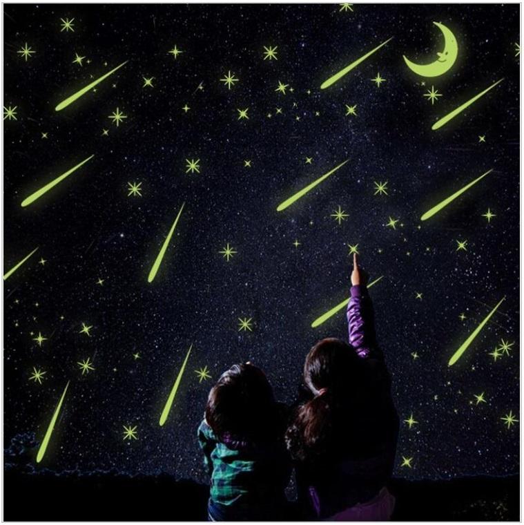 Svítící dekorace - měsíc a hvězdy / dnk-13-01315
