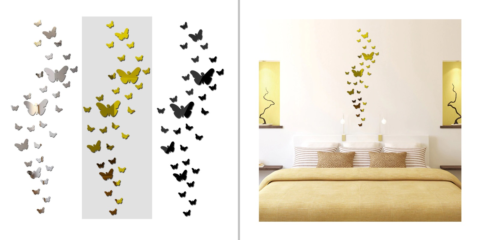 Samolepicí 3D dekorace na zeď - Motýlci (30 ks) / A-001206
