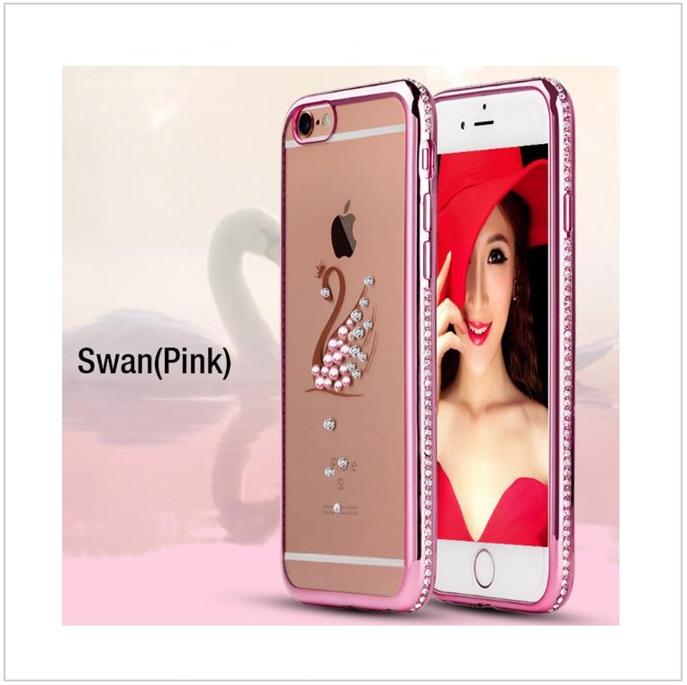 Pouzdro na mobil iPhone - Labuť / tnk-13-02325a