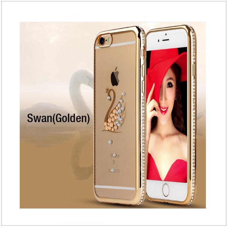 Pouzdro na mobil iPhone - Labuť / tnk-13-02325b