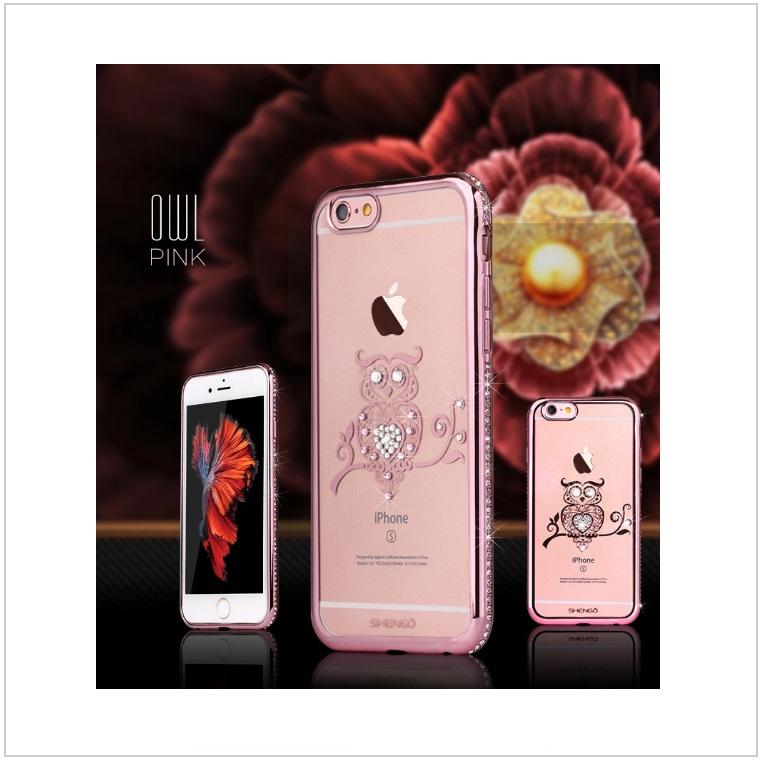 Pouzdro na mobil iPhone - Sova / tnk-13-02327a