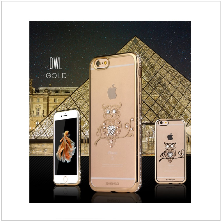Pouzdro na mobil iPhone - Sova / tnk-13-02327b