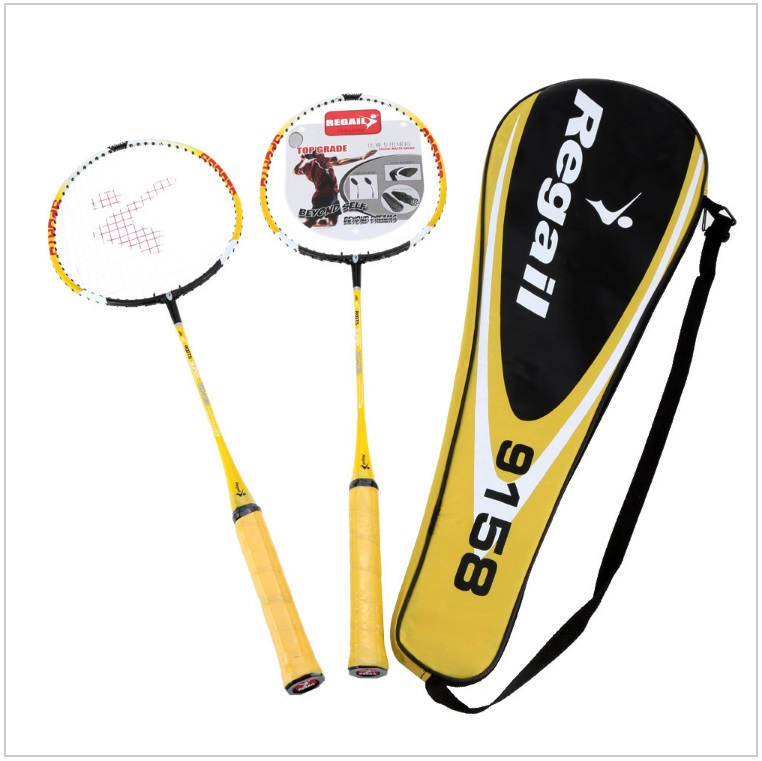 Badmintonové rakety - žluté (2 + bag) / tnk-13-02442a