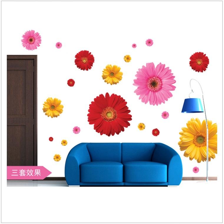 Dekorace na zeď - Květy / tnk-13-02550