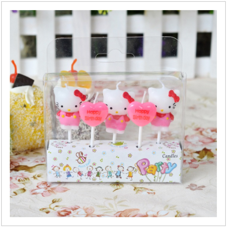 Narozeninové, párty svíčky - Hello Kitty (5 ks) / tnk-13-02596