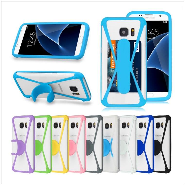 Silikonové pouzdro a stojánek na mobil / AT-00023