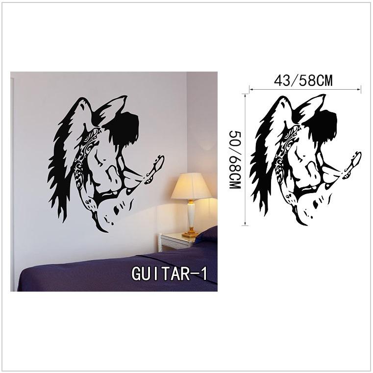 Samolepící tapeta - kytara (43 x 50 cm) / AT-00043a