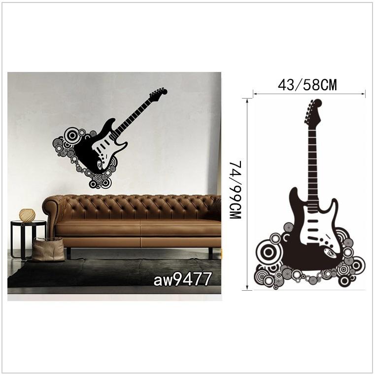 Samolepící tapeta - kytara (43 x 74 cm) / AT-00042a