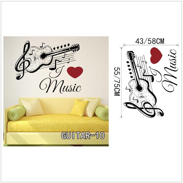Samolepící tapeta - kytara (43 x 55 cm) / AT-00044a