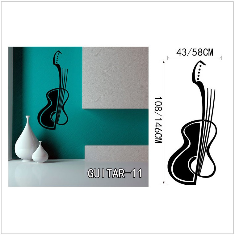 Samolepící tapeta - kytara (43 x 108 cm) / AT-00045a
