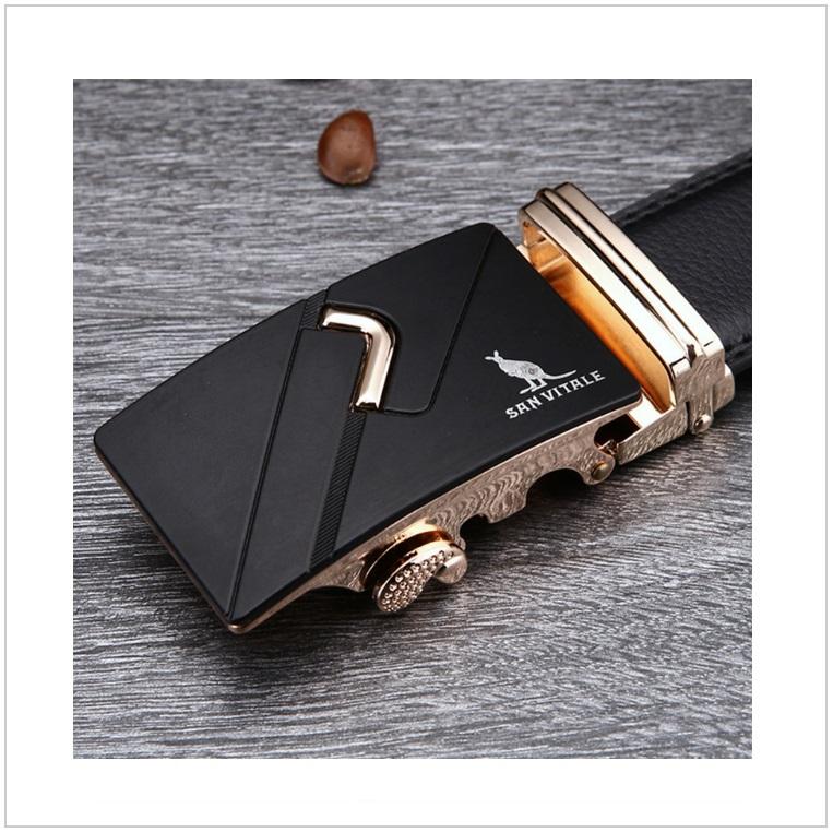 Pánský kožený pásek / AT-00060e