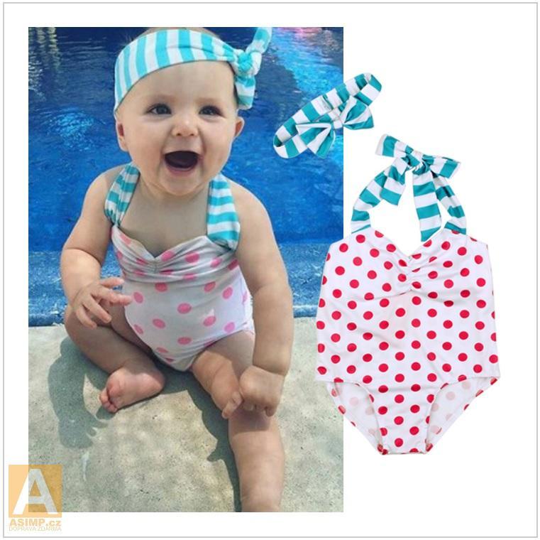 Dětské plavky s čelenkou / AD-00101