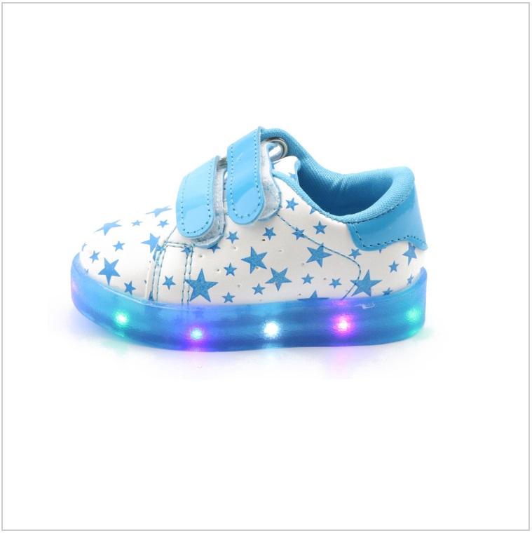 Dětské svítící boty - modré / AD-00199a