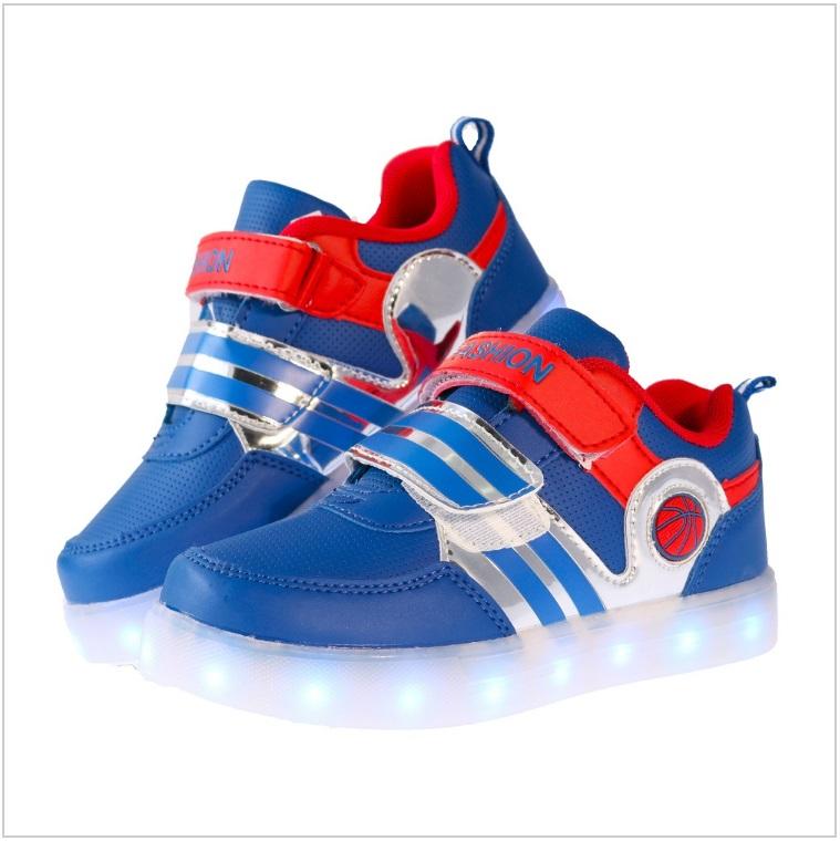 Dětské svítící boty - modré / AD-00200b