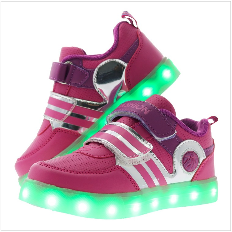Dětské svítící boty - růžové / AD-00200c