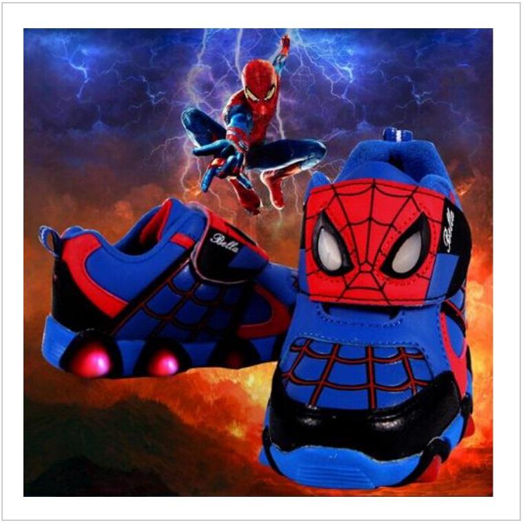 Dětské svítící boty - Spiderman / AD-00201