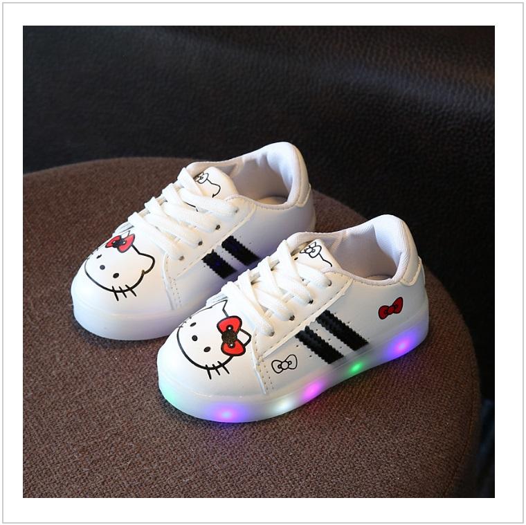 Dětské svítící boty - Hello Kitty / AD-00211a