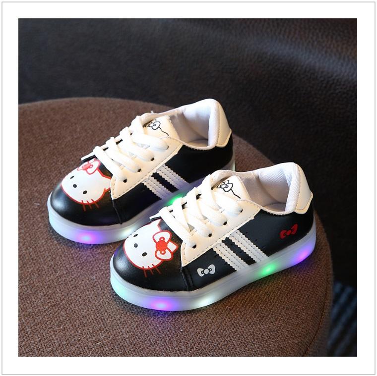 Dětské svítící boty - Hello Kitty / AD-00211c