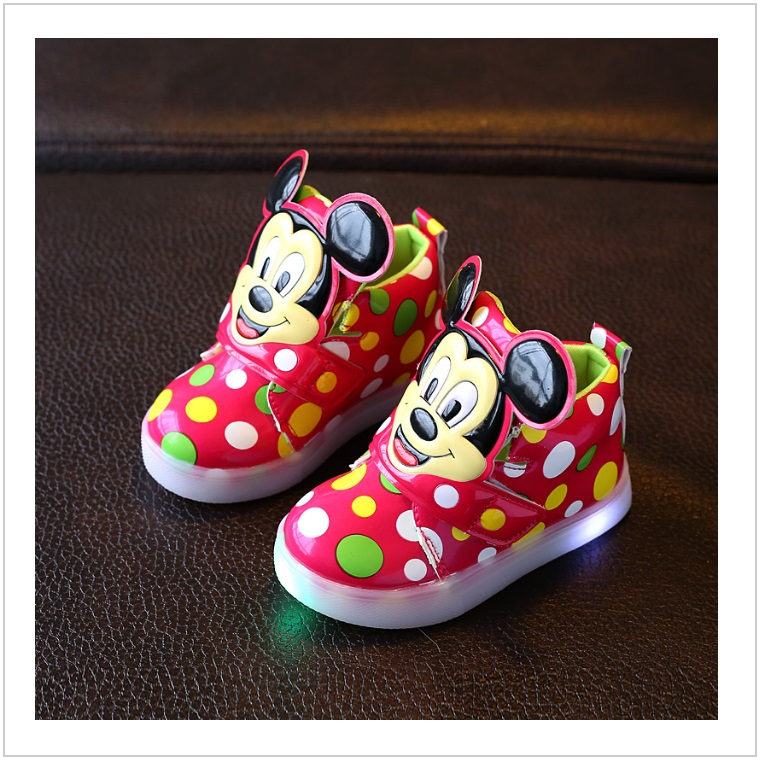 Dětské svítící boty - Mickey Mouse / AD-00212a