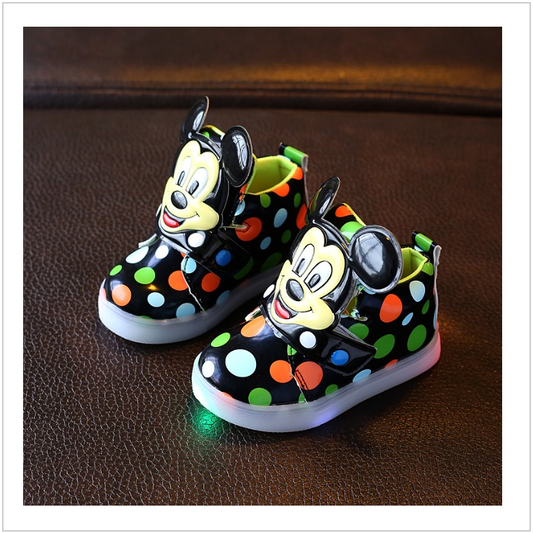 Dětské svítící boty - Mickey Mouse / AD-00212b
