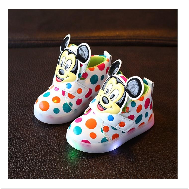 Dětské svítící boty - Mickey Mouse / AD-00212c