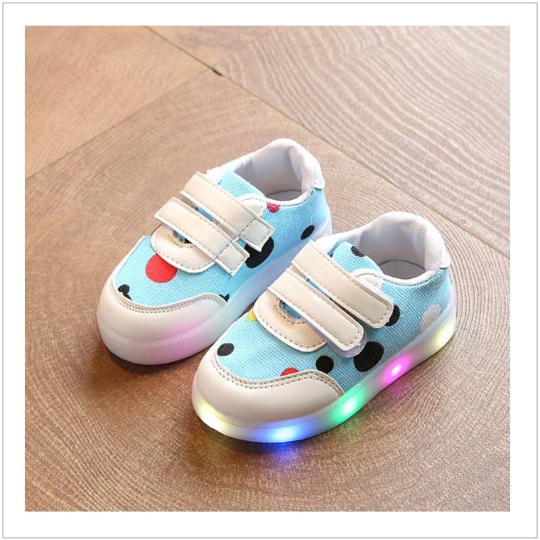 Dětské svítící boty - modré / AD-00213a
