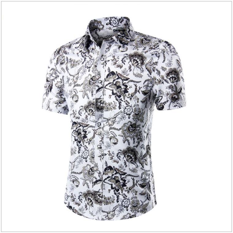 Pánská košile s krátkým rukávem / AT-00175a