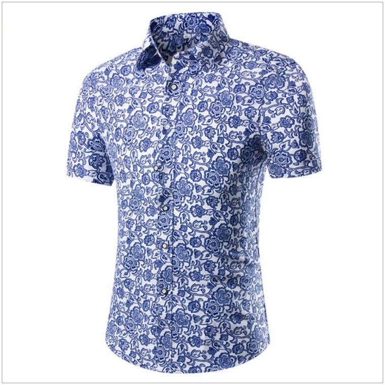Pánská košile s krátkým rukávem / AT-00175b