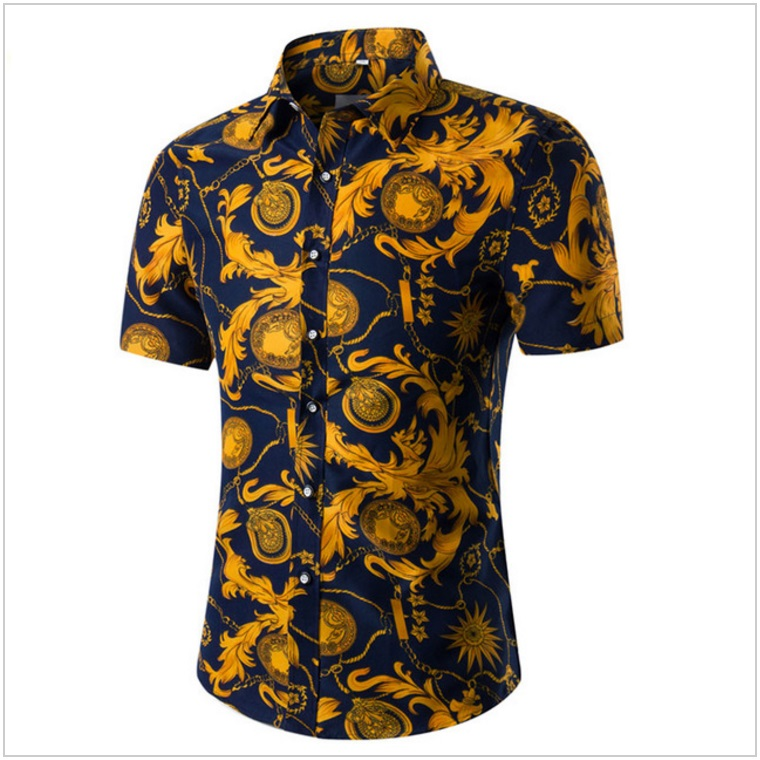 Pánská košile s krátkým rukávem / AT-00175c