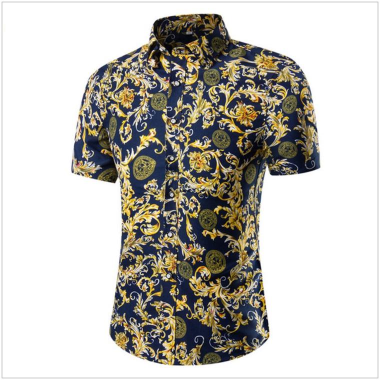 Pánská košile s krátkým rukávem / AT-00175d
